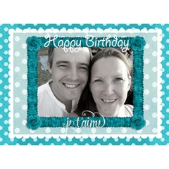 J taime Happy Birthday 3d Card In Aqua By Claire Mcallen   Birthday Cake 3d Greeting Card (7x5)   00g6n2s1ftzj   Www Artscow Com Front