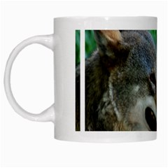 Red Wolf White Coffee Mug by AnimalLover