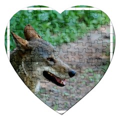 Red Wolf Jigsaw Puzzle (heart) by AnimalLover