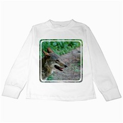 Red Wolf Kids Long Sleeve T-Shirt by AnimalLover