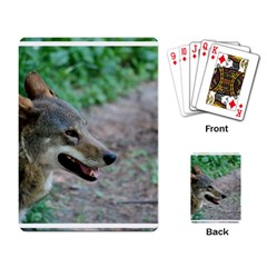 Red Wolf Playing Cards Single Design by AnimalLover