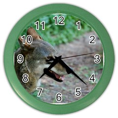 Red Wolf Wall Clock (color) by AnimalLover