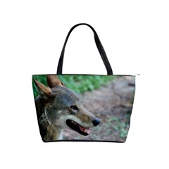 Red Wolf Large Shoulder Bag by AnimalLover