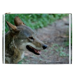 Red Wolf Cosmetic Bag (xxl) by AnimalLover