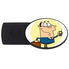 Phonecase1 1GB USB Flash Drive (Oval) by MagicialStore