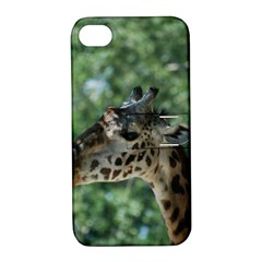 Cute Giraffe Apple Iphone 4/4s Hardshell Case With Stand by AnimalLover