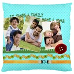 family - Large Cushion Case (One Side)