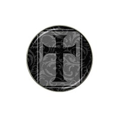 Gothic Brocade Cross Hat Clip Ball Marker (4 pack) by rosiejonsie