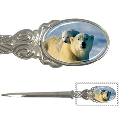 Mom Carrying Me  Polar Bear And Kid Letter Opener by FeaturedDesigns