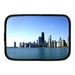 Chicago Skyline Netbook Case (medium) by canvasngiftshop