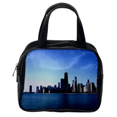 Chicago Skyline Classic Handbag (one Side) by canvasngiftshop