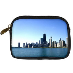 Chicago Skyline Digital Camera Leather Case by canvasngiftshop