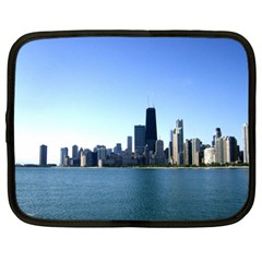 Chicago Skyline Netbook Case (xl) by canvasngiftshop