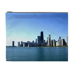 Chicago Skyline Cosmetic Bag (xl) by canvasngiftshop