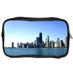 Chicago Skyline Travel Toiletry Bag (one Side) by canvasngiftshop