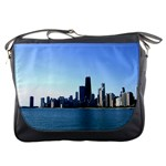 Chicago Skyline Messenger Bag Front