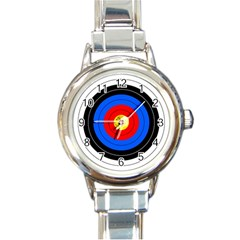 Target Round Italian Charm Watch by hlehnerer