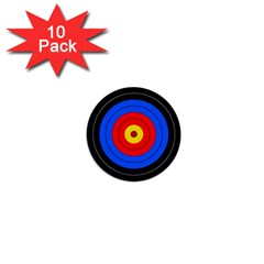 Target 1  Mini Button (10 Pack) by hlehnerer