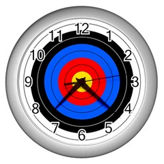 Target Wall Clock (silver) by hlehnerer