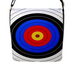 Target Flap Closure Messenger Bag (large) by hlehnerer