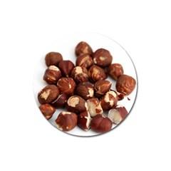 Hazelnuts Magnet 3  (round) by hlehnerer