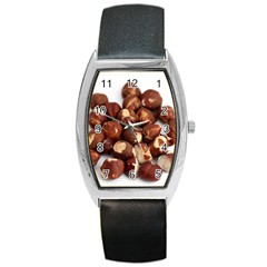 Hazelnuts Tonneau Leather Watch