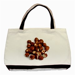 Hazelnuts Twin Sided Black Tote Bag by hlehnerer
