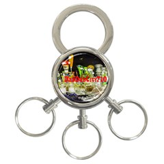 Dabdabcity710 3 Ring Key Chain