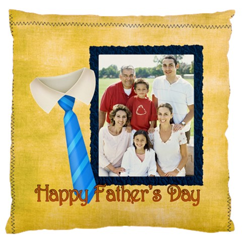 Fathers Day By Dad   Large Cushion Case (one Side)   Mjz8lllsthfr   Www Artscow Com Front