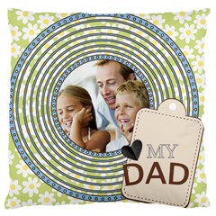 Father By Dad   Large Cushion Case (two Sides)   Adwc8ydhgf8m   Www Artscow Com Back