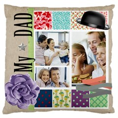 Father By Dad   Large Cushion Case (two Sides)   Xdtmei3q3vnk   Www Artscow Com Back