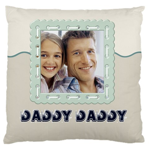 Father By Dad   Large Cushion Case (one Side)   Ddg2krqevv0i   Www Artscow Com Front