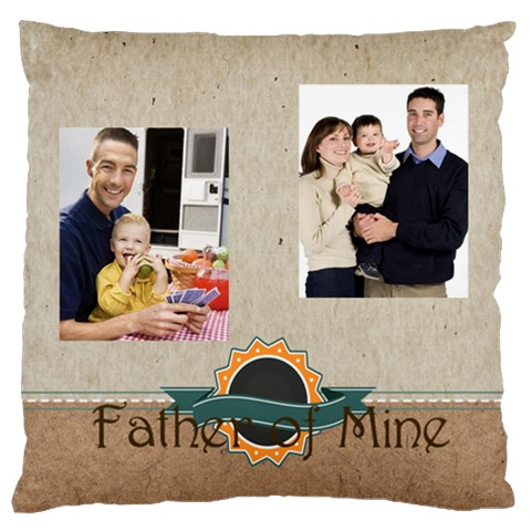 Father By Dad   Large Cushion Case (one Side)   Iemdh33kw62g   Www Artscow Com Front