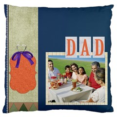 Father By Dad   Large Cushion Case (two Sides)   1cc9c7dw0ztr   Www Artscow Com Front