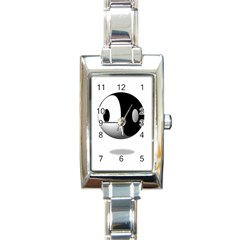 Yin Yang Rectangular Italian Charm Watch by hlehnerer