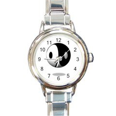 Yin Yang Round Italian Charm Watch by hlehnerer