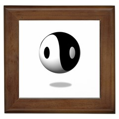 Yin Yang Framed Ceramic Tile by hlehnerer