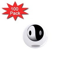 Yin Yang 1  Mini Button Magnet (100 Pack) by hlehnerer