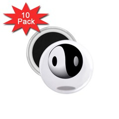 Yin Yang 1 75  Button Magnet (10 Pack) by hlehnerer