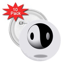 Yin Yang 2 25  Button (10 Pack) by hlehnerer