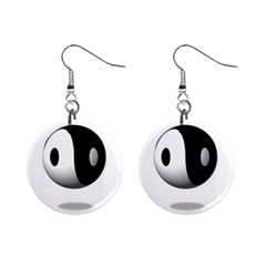 Yin Yang Mini Button Earrings by hlehnerer