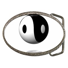 Yin Yang Belt Buckle (oval)