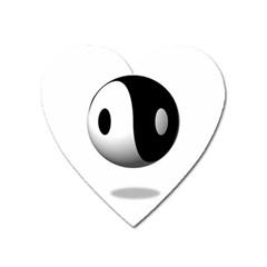Yin Yang Magnet (heart) by hlehnerer