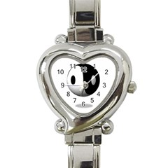 Yin Yang Heart Italian Charm Watch  by hlehnerer