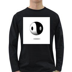 Yin Yang Mens' Long Sleeve T Shirt (dark Colored)