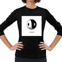 Yin Yang Womens' Long Sleeve T Shirt (dark Colored) by hlehnerer