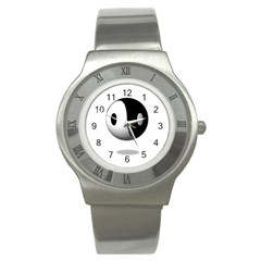 Yin Yang Stainless Steel Watch (unisex)