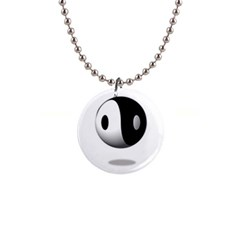 Yin Yang Button Necklace