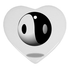 Yin Yang Heart Ornament (two Sides) by hlehnerer