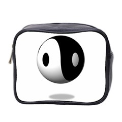Yin Yang Mini Travel Toiletry Bag (two Sides) by hlehnerer